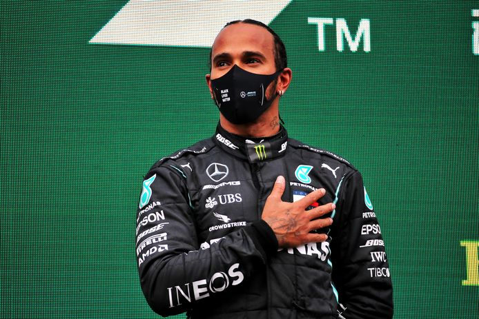 Lewis Hamilton werd dit jaar voor de zevende keer wereldkampioen, maar kreeg ook te maken met corona.