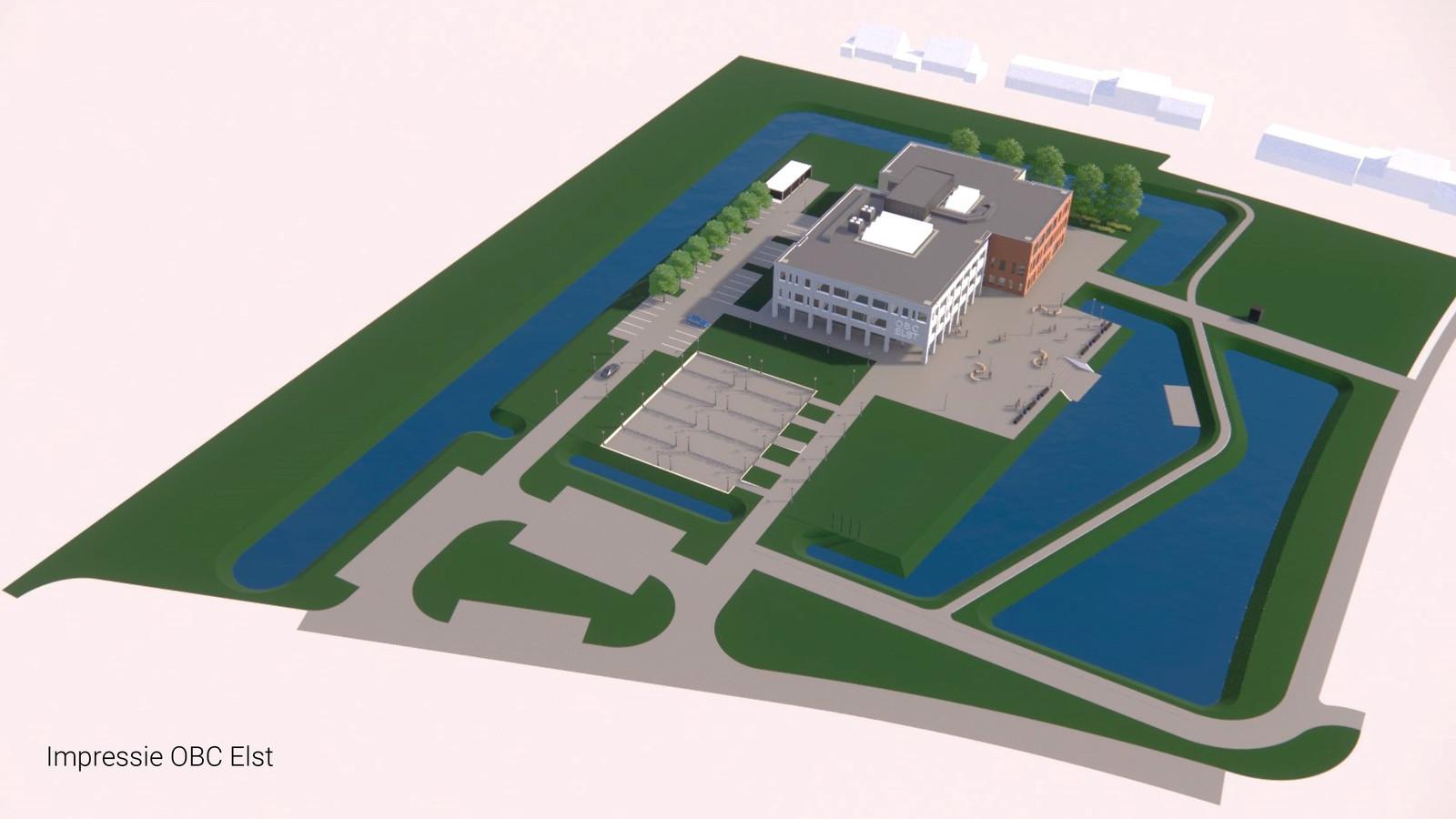 Impressie van de nieuwbouw van OBC in Elst.