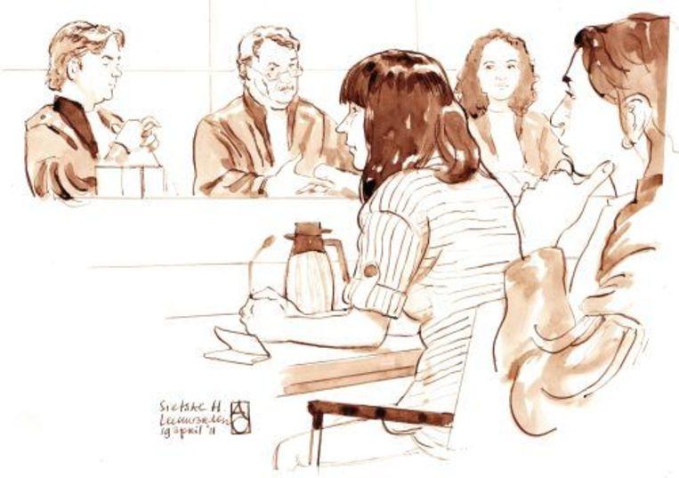 Rechtbanktekening Sietske H. ANP Beeld