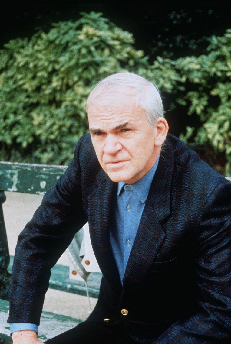In eigen land was het werk van Milan Kundera tot 1989 verboden. Beeld AFP