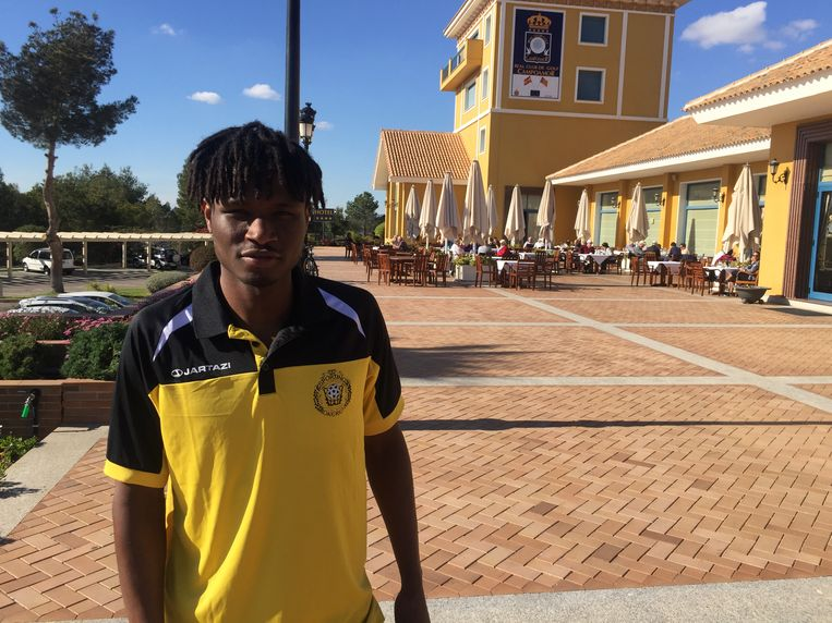 Jean Mendy, nieuwkomer Sporting Lokeren op winterstage in Campoamor