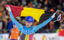 Bart Swings toont trots de Belgische driekleur.