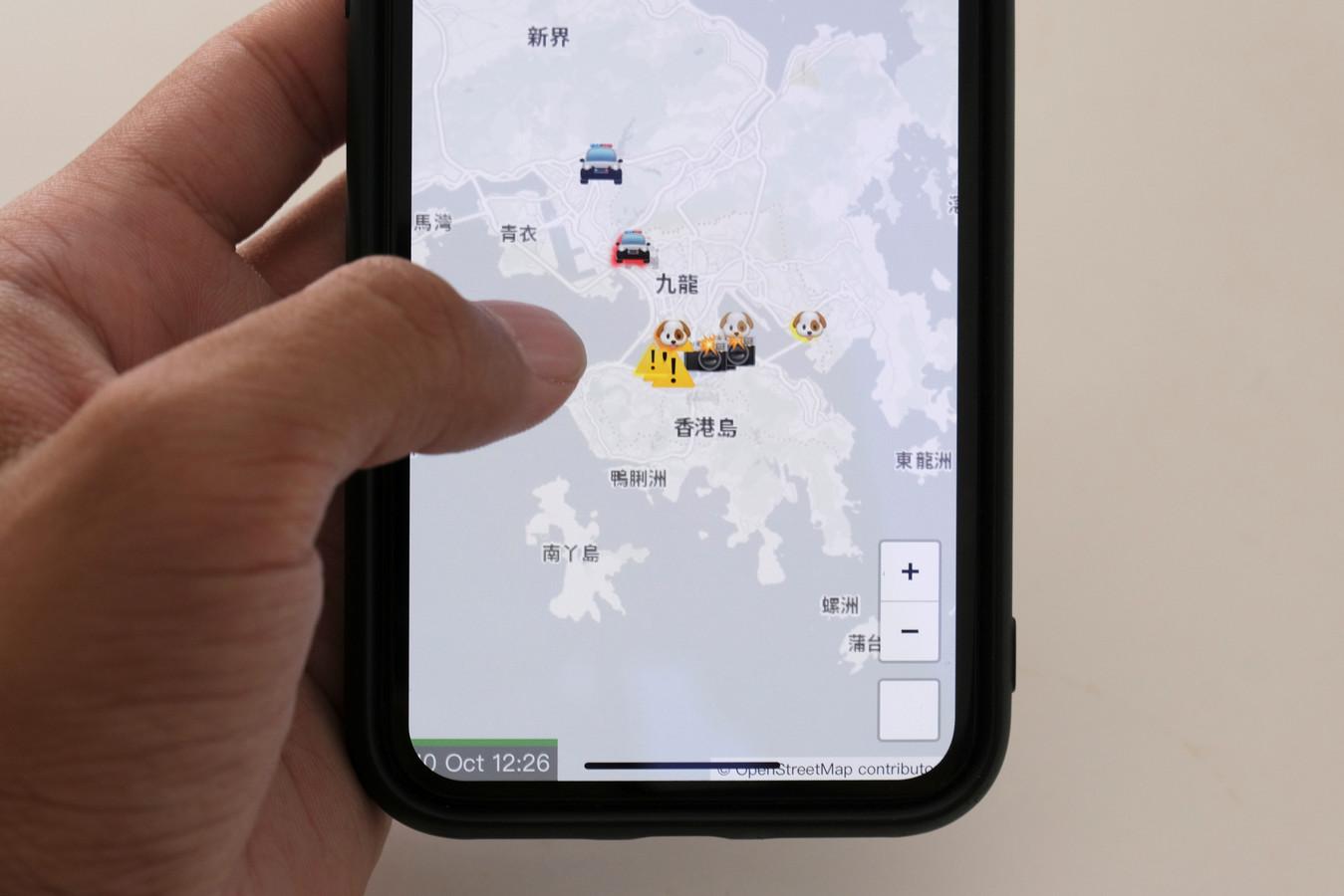 """Dans un communiqué, les concepteurs de HongKongmap.live ont indiqué qu'Apple leur avait dit que cette application """"mettait en péril le maintien de l'ordre et les habitants de Hong Kong""""."""