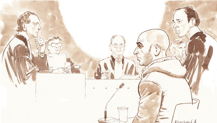 Benaouf A. tijdens een eerdere zitting.