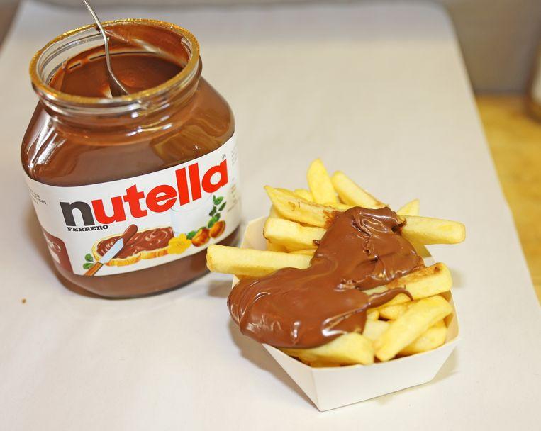 Geen friet met mayonaise, maar friet met Nutella dus.