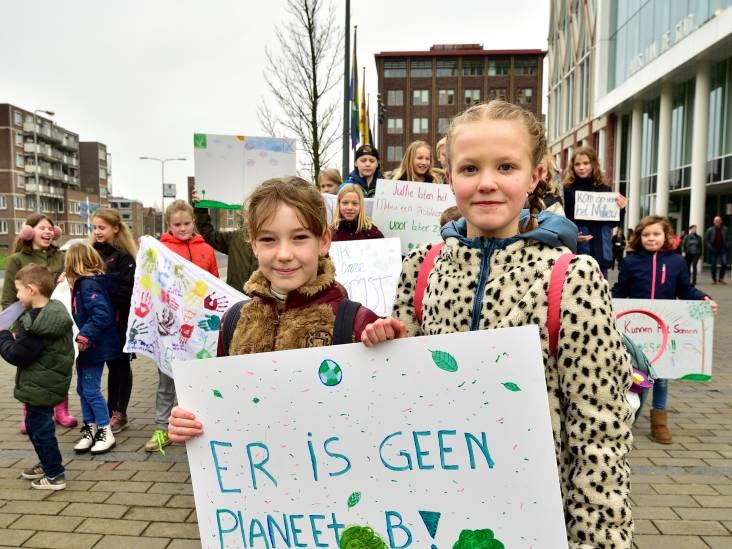 Goudse basisschoolleerlingen demonstreren voor milieu en klimaat