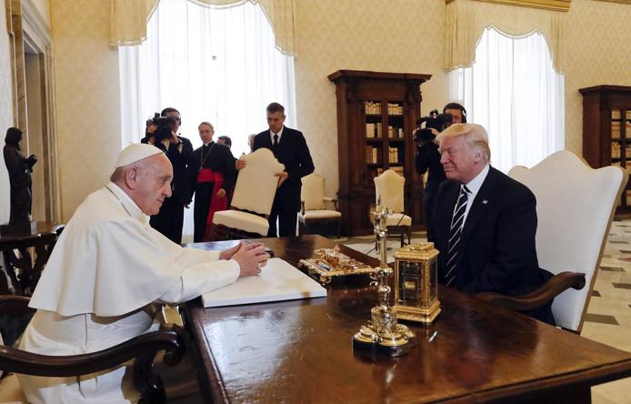 Eind mei ontving paus Franciscus de Amerikaanse president Donald Trump nog in het Vaticaan.