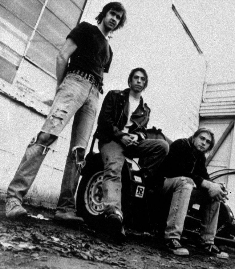 Nirvana in 1991. (v.l.n.r.) Krist Novoselic, Dave Grohl en Kurt Cobain. Beeld ap