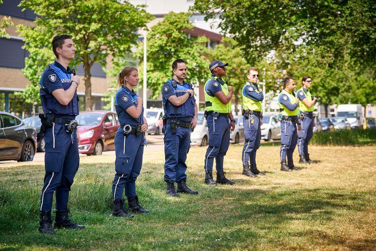 Boa's demonstreren dinsdag in Den Haag tegen het toenemende geweld tegen hen. Beeld Phil Nijhuis / ANP