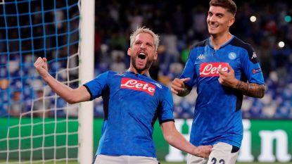 Mertens helpt Napoli met penaltygoal aan zege tegen titelverdediger Liverpool