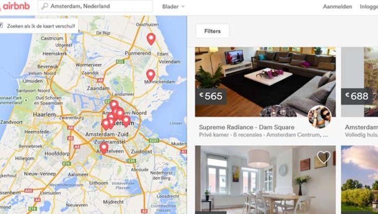Airbnb.nl, de Nederlandse editie van de internationale verhuursite. Beeld Airbnb.nl