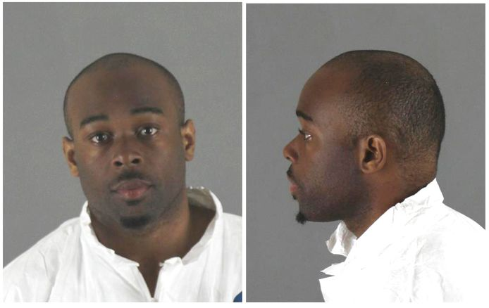 Emmanuel Deshawn Aranda, die ervan wordt verdacht een 5-jarige jongen van de derde etage van een winkelcentrum te hebben gegooid, op een politiefoto.