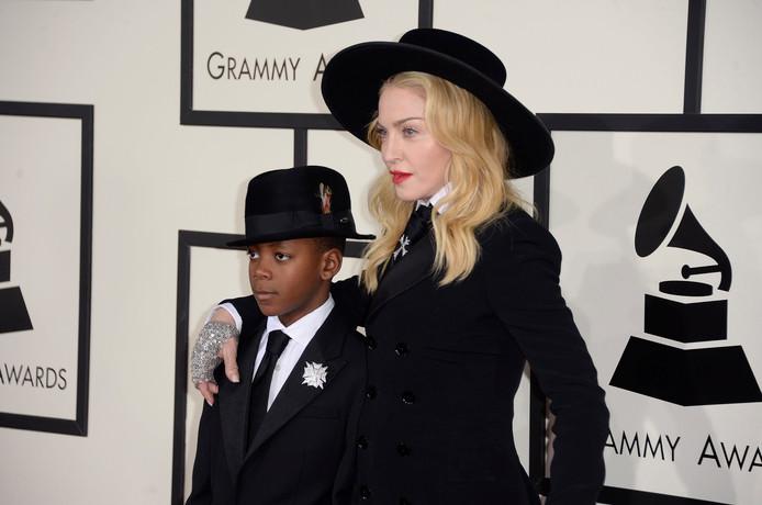 Madonna en David in 2014.