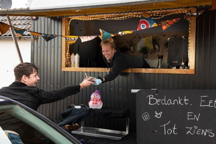 De wafel drive-in bij restaurant pannenkoekenhuis 't VeerHuys in Beusichem.