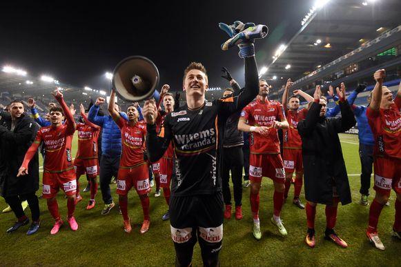 Vreugde bij KV Oostende na de kwalificatie voor de bekerfinale.