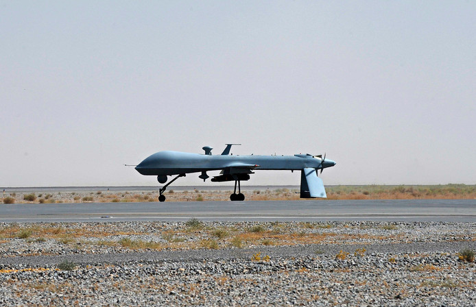Een onbemande drone van het Amerikaanse leger.