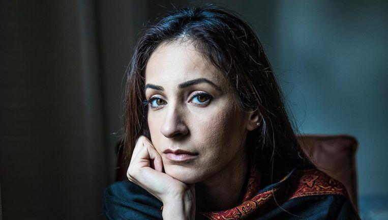 Nadia Rashid, de moeder van het ontvoerde meisje Insiya. Beeld null