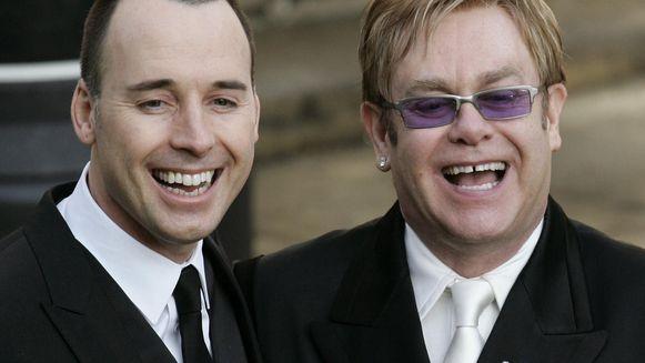 Elton John en echtgenoot David Furnish.