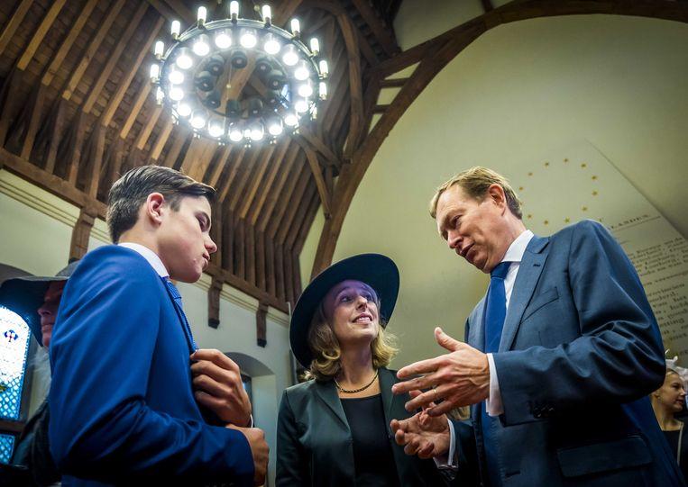 Minister Bruno Bruins tijdens  Kleine Prinsjesdag in de Ridderzaal.  Beeld ANP