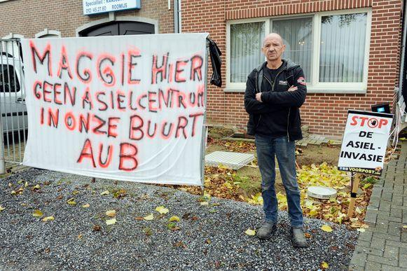 Sylvain Moeremans is tegen de komst van het asielcentrum.
