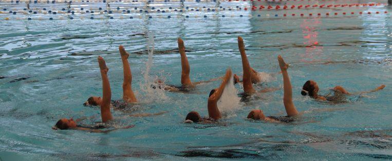 Koninklijke Zwemclub Neptunus uit Aalst gaf een demonstratie.