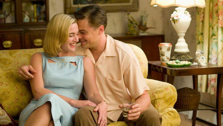 Kate Winslet en Leonardo DiCaprio in Revolutionary Road Beeld