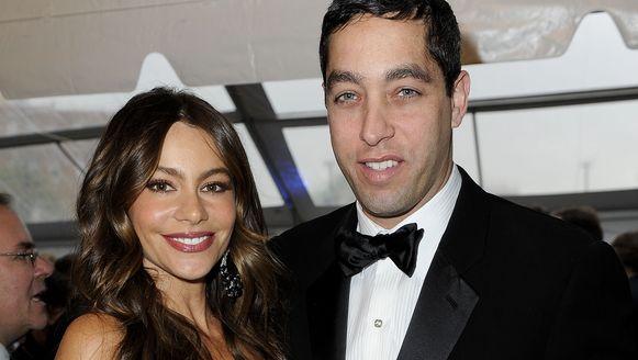 Actrice Sofia Vergara en haar verloofde Nick Loeb.