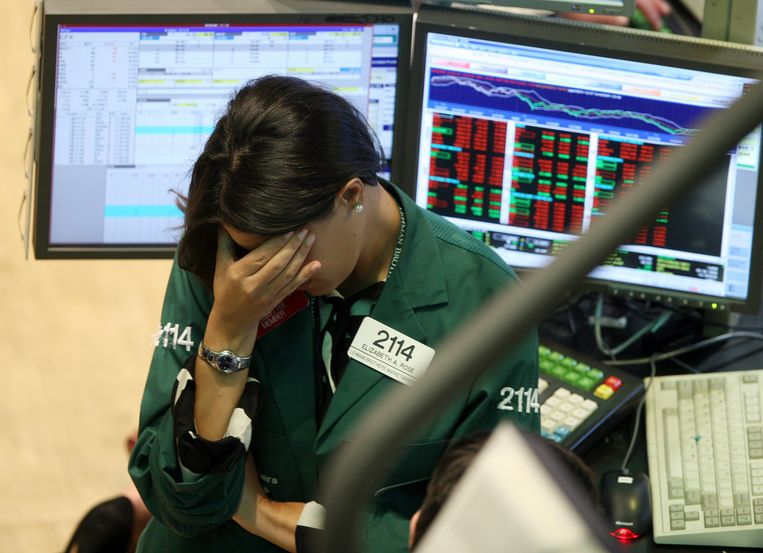 Toen de eerste bank in 2008 omviel, begon het de financiële markten pas echt te dagen hoe wankel financiële instellingen ervoor stonden. Beeld AP