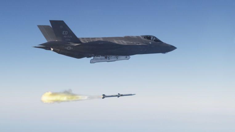 F-35, de straaljager die voortgekomen is uit het Joint Strike Fighter-programma (JSF) van het Amerikaanse ministerie van Defensie Beeld anp