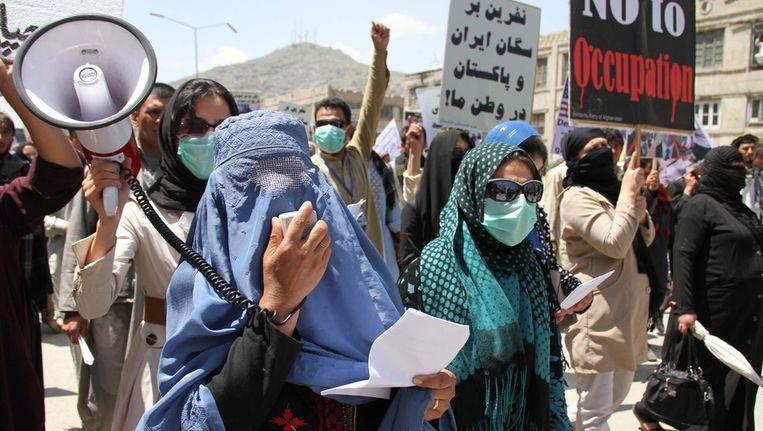 Demonstraties in Afghanistan. Beeld EPA