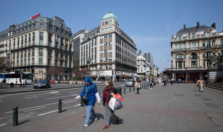 Het Beursplein in Brussel (archiefbeeld).