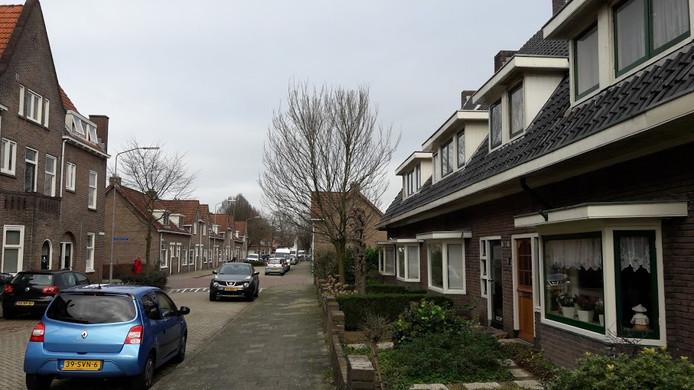 De Julianastraat in Wageningen ligt net buiten het parkeervergunningengebied in de Indische Buurt