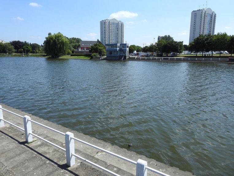 De Watersportbaan is 76 meter breed, halverwege kwam het slachtoffer in de problemen.