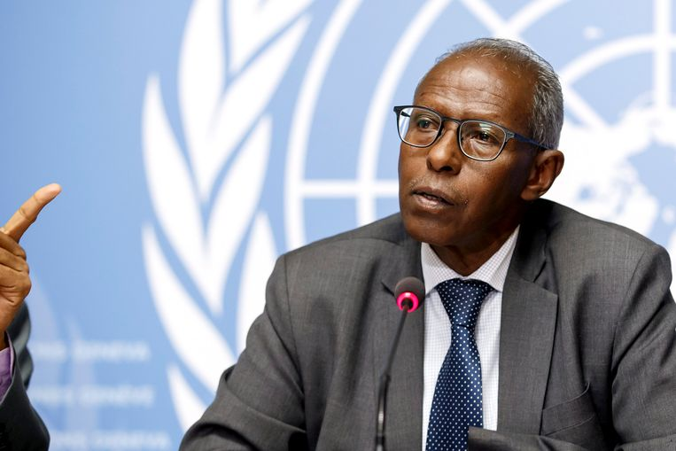 Topambtenaar Yemane Gebreab van Eritrea bezoekt deze week Nederland. De overheid kan daar weinig tegen doen. Beeld EPA