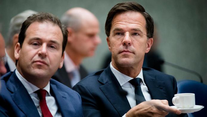 Minister Lodewijk Asscher van Sociale Zaken en premier Mark Rutte tijdens de Algemene Politieke Beschouwingen vorige maand.