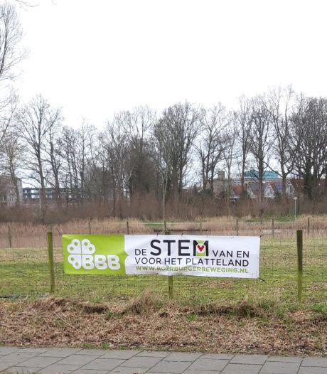 Verkiezingsspandoek van plattelandspartij in Zierikzee gestolen