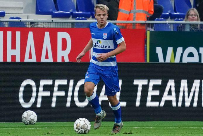 Thomas van den Belt maakte zaterdag tegen Sparta (4-0) eindelijk zijn eerste minuten in de eredivisie.