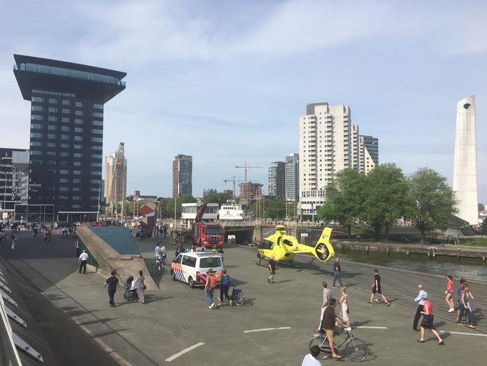 Onder meer de traumahelikopter werd ingezet.