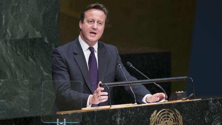 De Britse premier David Cameron. Beeld ap