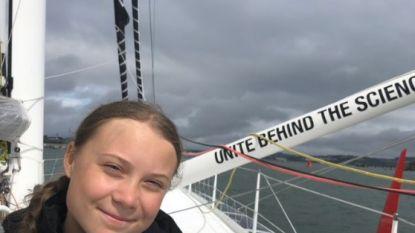 Greta Thunberg met zeilboot naar klimaatconferentie in New York vertrokken
