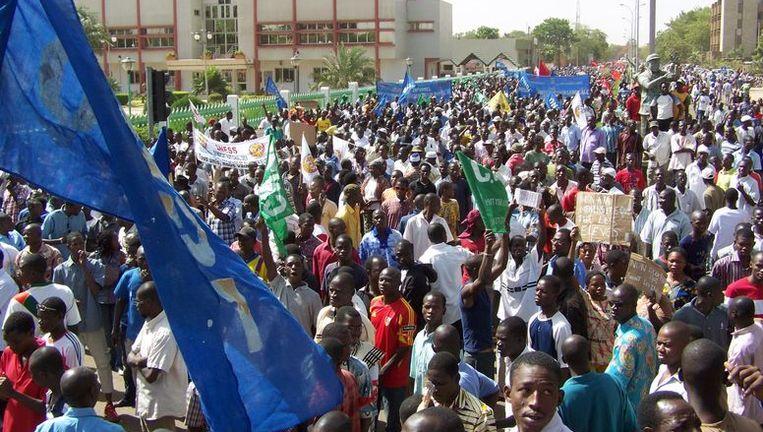Demonstratie tegen president Blaise Compaore. Beeld afp