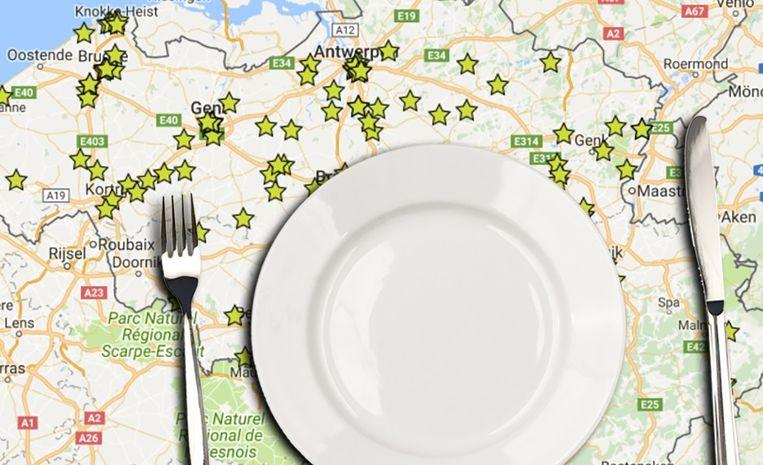 Een ware sterrenregen voor de Belgische restaurants.