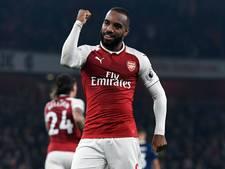Lacazette helpt Arsenal voorbij West Bromwich Albion