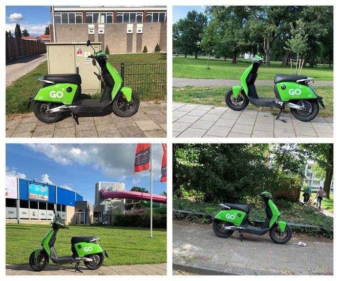 De deelscooters zijn overal in Enschede terug te vinden.