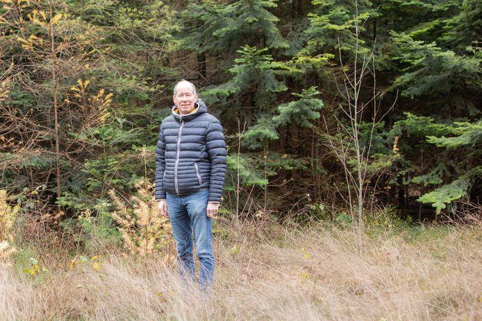 Een van de tegenstanders van woningbouw in het Borrebos, Robert van Motman, voorzitter van de vereniging Vrij Polderland in Soest.