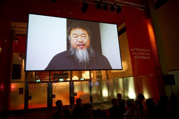 De Chinese dissidente kunstenaar Ai Weiwei. Beeld ANP