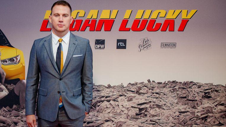 Channing Tatum op de rode loper voor de premiere van de misdaadkomedie LOGAN LUCKY van Channing Tatum. Beeld anp