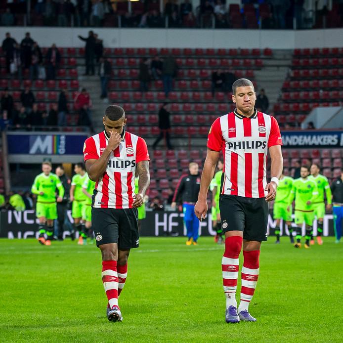 Ajax won in 2015 en 2016 (foto) in Eindhoven, maar PSV werd kampioen.