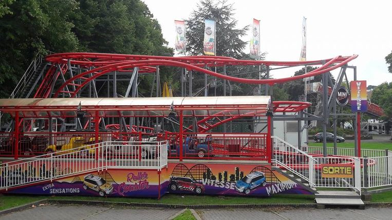 De achtbaan waar het ongeval gebeurde.