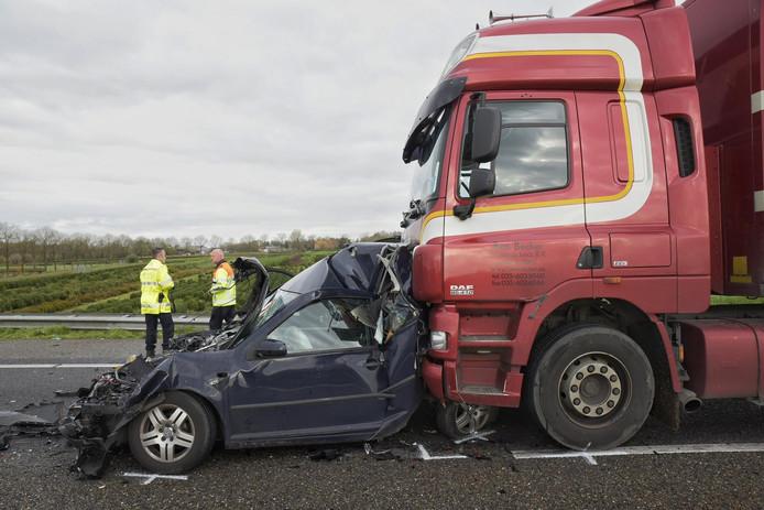 Ongeluk op de A59 bij Wagenberg
